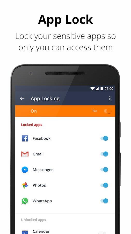 Avast Mobile Security Statusleiste